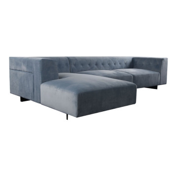 Modern velvet fabric living room sofa