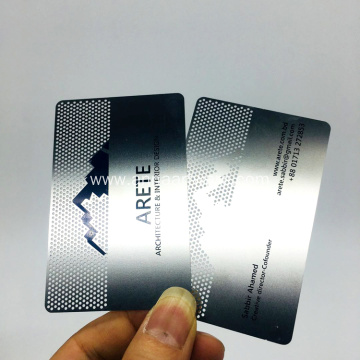 Wholesale Cheap Custom Printing Engraved Metal Business Card