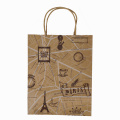 Custom Printed Hot Sale Kraft Shopping Packaging Bag