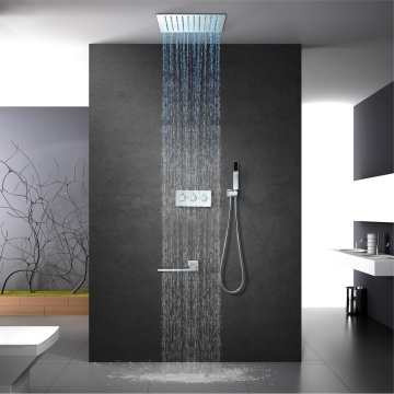 Ceiling Bathroom LED Shower Faucet Set