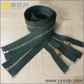 Polished high quality metal zipper for garment