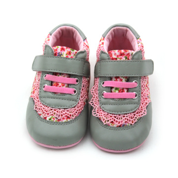 Hot Selling Floral Print Girls Cotton Sports Shoes