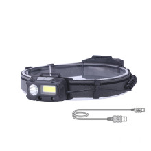 ABS USB Rechargeable Sensor COB Led Headlamp