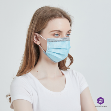 Dust Protective Earloop 3 Ply Face Mask Disposable