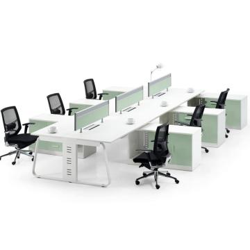 Latest 6 person office furniture table frame