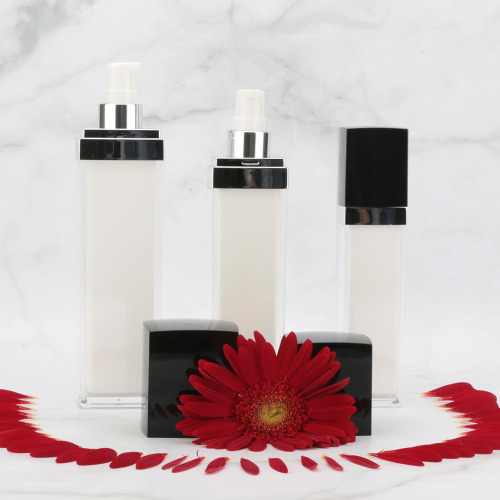 Square acrylic cosmetic jars and bottles