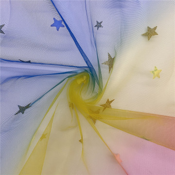 100% Polyester Rainbow American Mesh Tulle Fabric