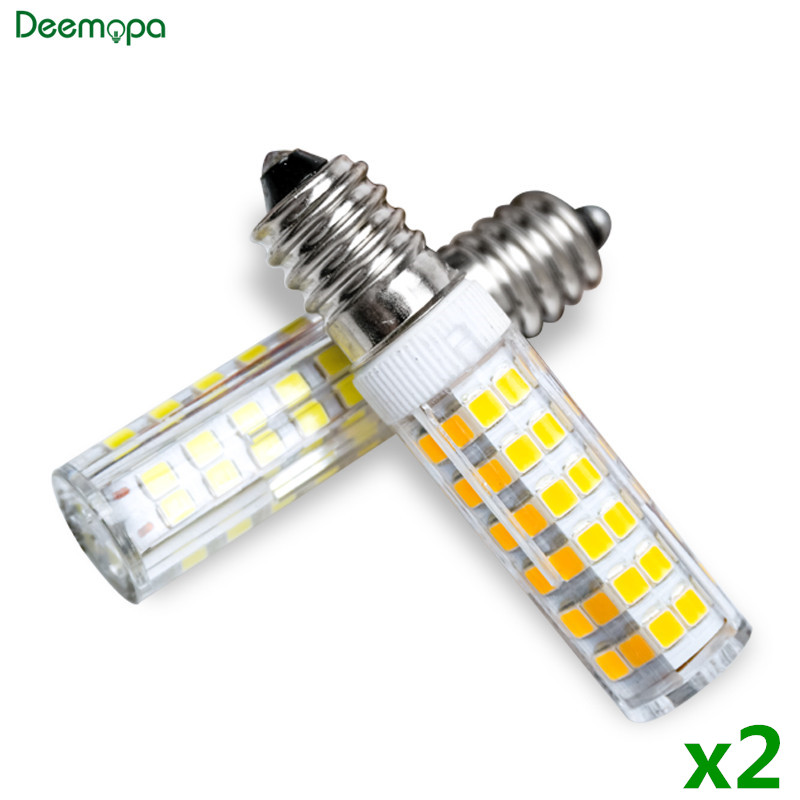 2pcs/lot E14 LED Lamp 3W 5W 7W 220V 240V LED Corn Bulb 33 51 75 SMD2835 360 Beam High Quality Ceramic Mini Chandelier Lights