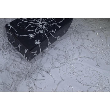 100%Nylon White Foil Mesh Fabric For Bridal
