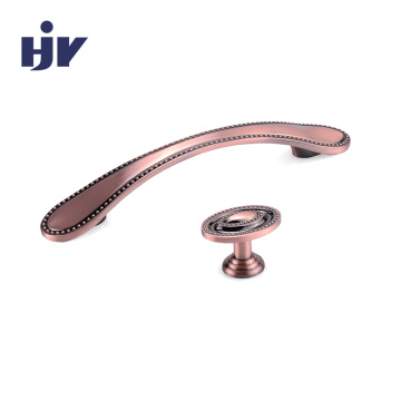 Kitchen cupboard hardware handle decorative furniture drawer knobs  antique Copper