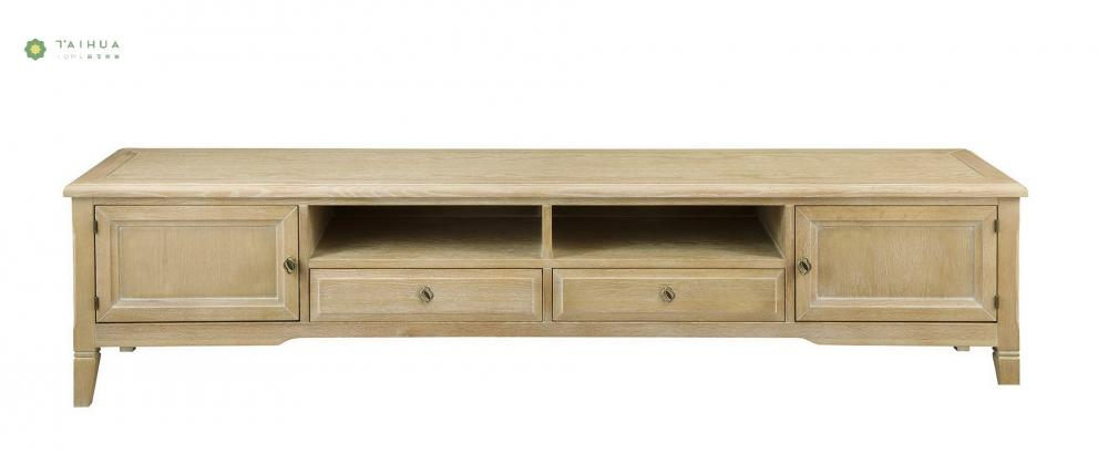 Solid Wood TV Stand Two Drawers