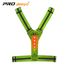 Front&rear LED flashing lights elastic belt