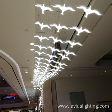 Hotel shopping hall led chandelier pendant light