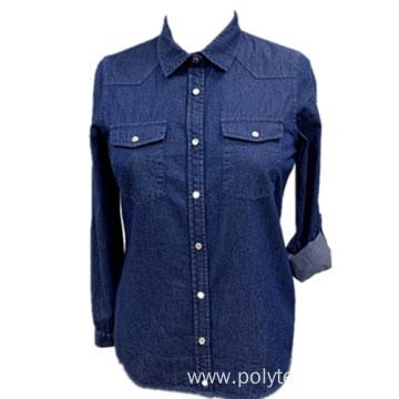 Ladies Cotton Denim Shirt