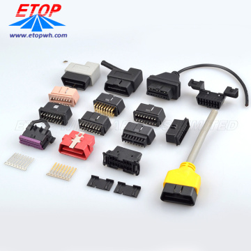 16 Pin Molded OBD Connectors for Automative