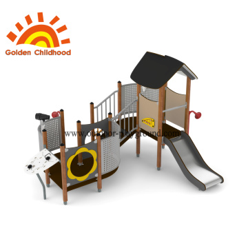 HPL Outdoor Playground Yellow Slide Facility