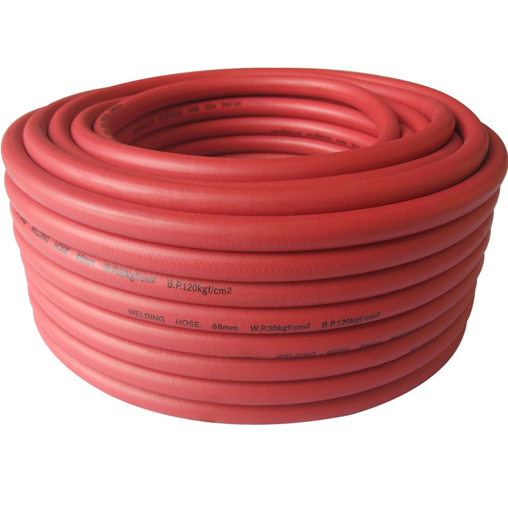 Single Welding Hose Red