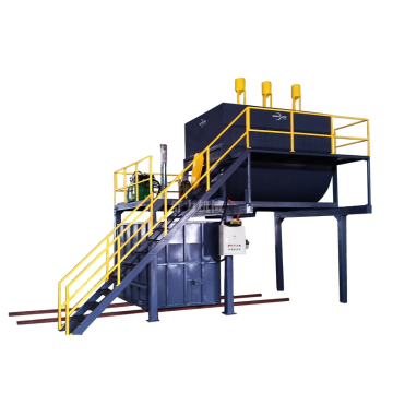 Foaming recycling machine with mold box