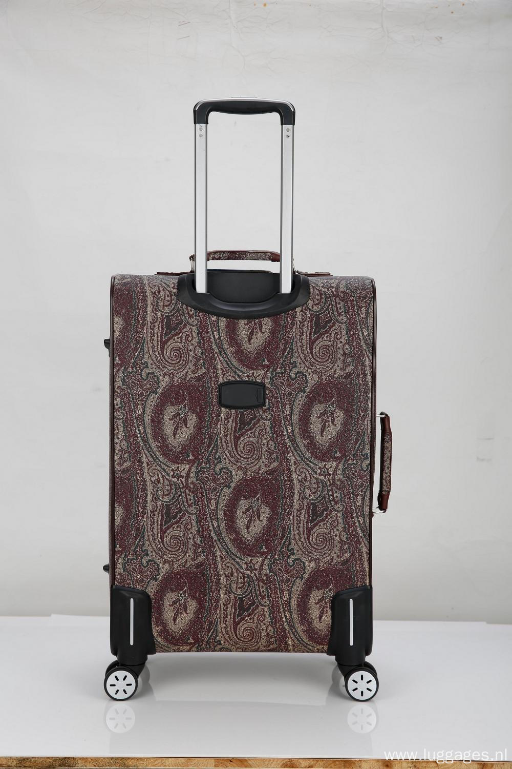 New design trend PU leather luggage