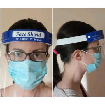 PET disposable medical Sponge holding face shield
