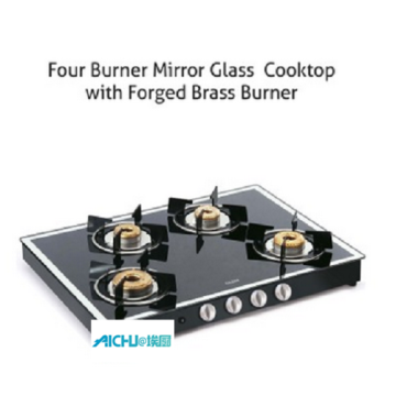 4 Burner Gas Stove Black Forged Burners