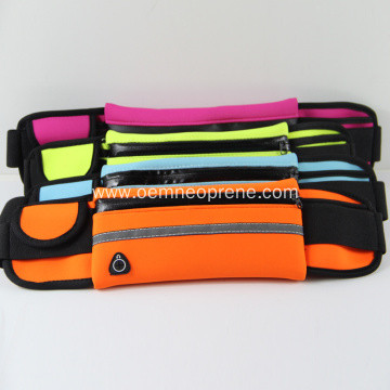 Neoprene Waist Pack Running Belts with Reflective Strip