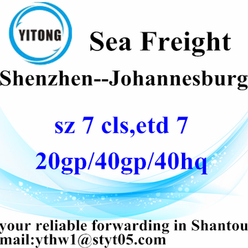 Shenzhen Logistics Forwarding Service to Johannesburg