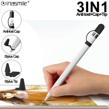 3 in 1 Stylus cap Stylus Tib Anti lost Stylus Cap Compatible For Apple Stylus pen 1 Spare Nip Replacement For Apple Pencil 1 2