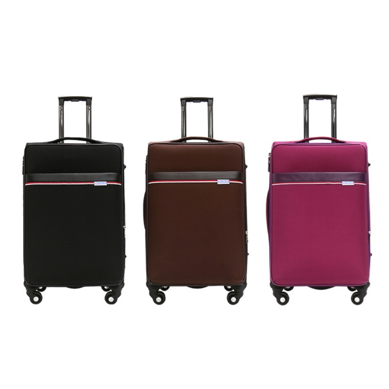 black brown trolley luggage