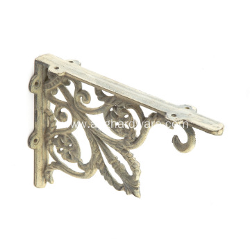 Antique-Style Indoor Outdoor Cast Iron Shelf Bracket