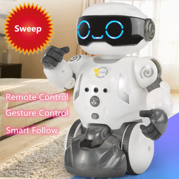 Remote Control Toy Education Intelligent Smart Follow Singing Dancing RC Robot Can Sweeping RC Sweep Robot Kid Best Friend Toys