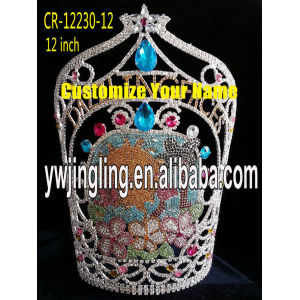 12 Inch Pageant Crown Sun Flowers Crown