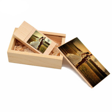 Square Wooden Bamboo USB Flash Drive