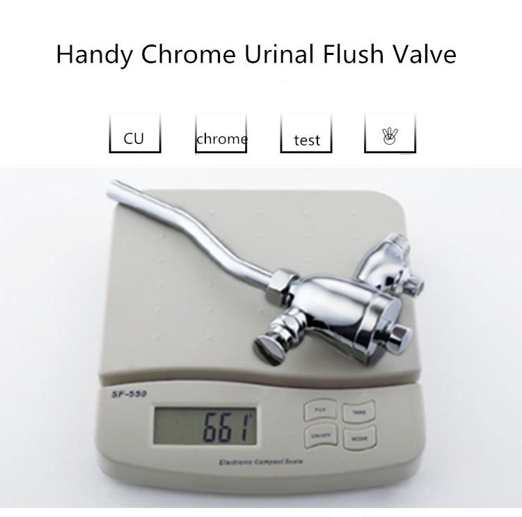 Chromed Urinal Flush Valve