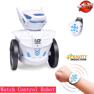 2.4Ghz Watch control intelligent smart robot With LED Light Music Singing Dacing Playing with child kid friend RC Robot Toy gift
