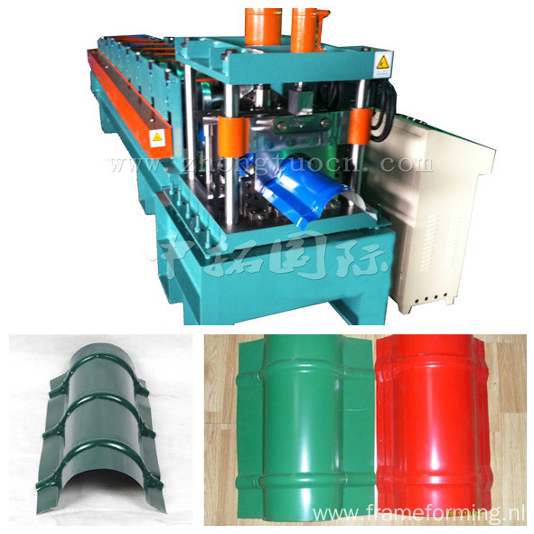 Colored Steel Roofing Arch Sheet Roll Forming Machine