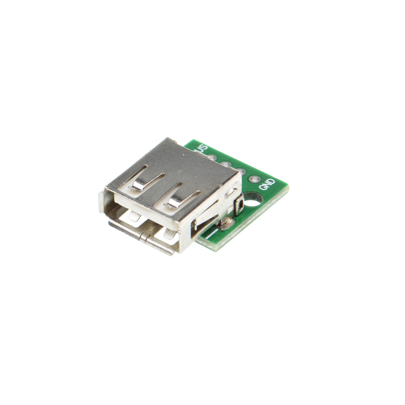 10pcs USB 2.0 FEMALE SOCKET TO dip 4P 4PIN Adapter CONNECTOR TO DIP 2.54MM Welded PCB Converter Pinboard for Cellphone Data Line