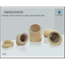 Foundry thick-walled ceramic sprue bend tube