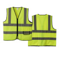 Safety vest zipper front closure