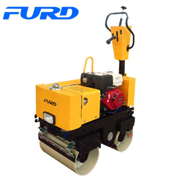 800kg Petrol Engine Small Double Drum Vibratory Roller Capacity