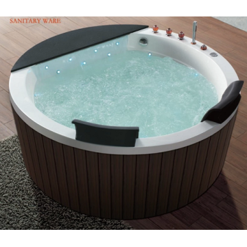 Round Freestanding Bathtub Acrylic Soaking Function