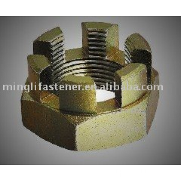 DIN 935-1 Hexagon Slotted Nuts And Castle Nuts