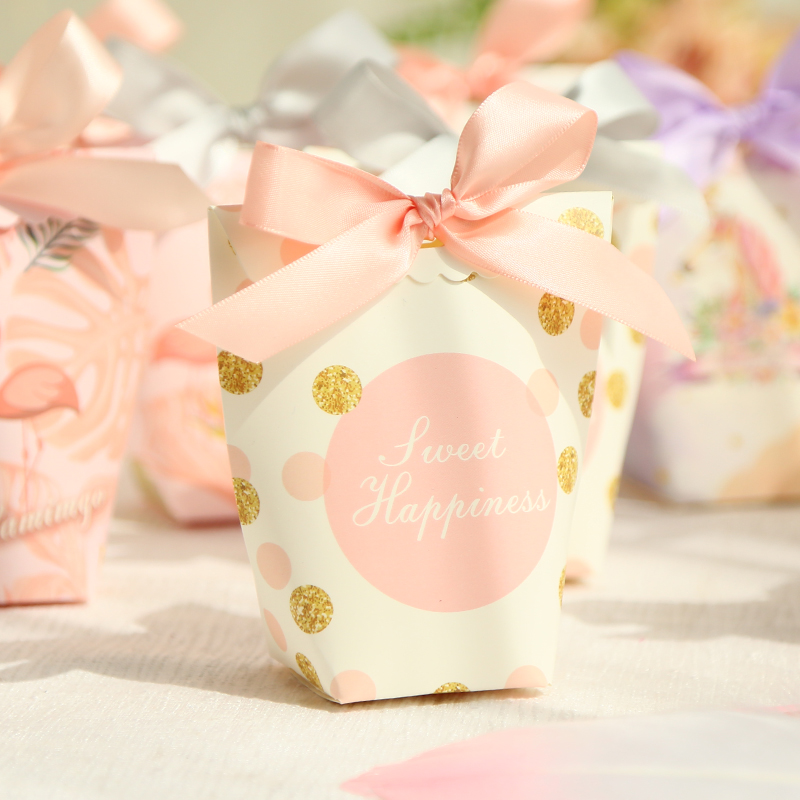 Fancy foldable wedding candy box
