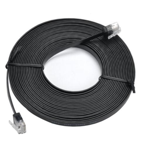 Cat6 Flat Patch Cable With Short RJ45 Body