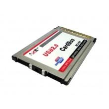 2 Ports USB 2.0 usb2.0 PCMCIA PC CardBus Notebook Laptop docking station laptop notebook 54mm VIA Chip Adapter insert