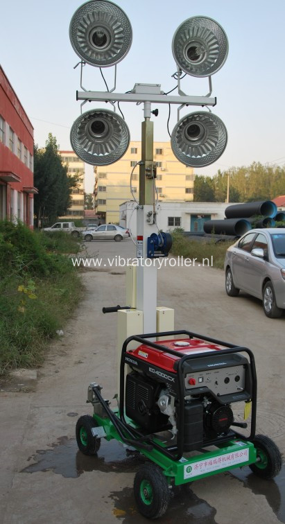 400W*4 Construction Small Telescopic Mobile Lighting Tower