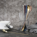 Colorful stainless steel long handle ice spoon