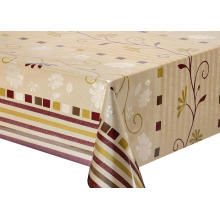 Double Face Emboss printed Gold Silver Tablecloth Glasgow