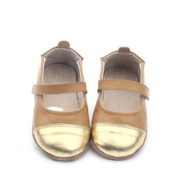 Wholesale Real Leather Cute Girls Baby Dress Shoes