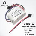 300mA LED Driver 5w 10w 20w 30w 40w High PF Lamp Power Supply 1-5x1w 6-10x1w 12-20x1w 20-36x1w External Lighting Transformer